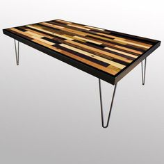 Multi Color Coffee Table - Unique Wood & Iron