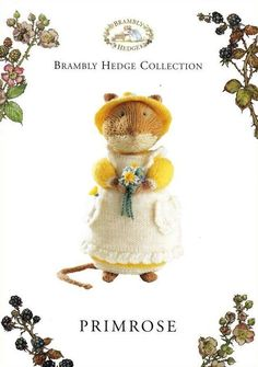 Brambly Hedge_ PRIMROSE _Original Toy Knitting Pattern_By Alan Dart