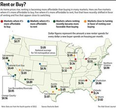 wall street journal buying vs renting map