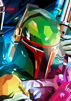 Star Wars: Boba Fett by : Liam Brazier Star Wars Fan Art, Star Trek, Star Wars Vii, Star Wars Pictures, Star Wars Images, Jaba De Hut, Cuadros Star Wars, Star Wars Painting, Star Wars Wallpaper
