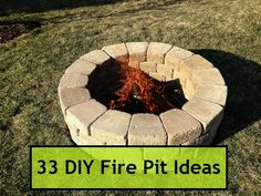 33 DIY Fire Pit Ideas  ck out the one with grates for cooking on
