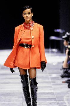 Versace Fall 1991 Ready-to-Wear Fashion Show - Nadege de Bospertus