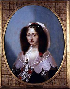 Magdalena Sibylla of Saxon, consort to Prince Christian of Denmark. Karel van Mander, 1642