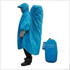 Bluefield Backpack Tarp Poncho Raincoat Rain Cover Hiking Gear Terylene Taped | eBay