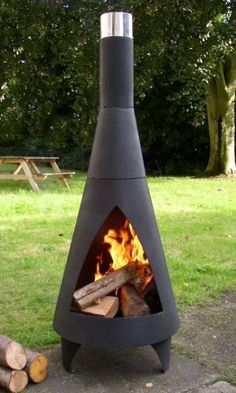 Relax Well Into the night With Our Colorado Steel Chimenea - Large