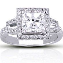 2.77 ct. t.w. Princess Diamond Ring (H,SI1) - Bridal Rings, I love princess cuts.
