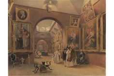 James Stephanoff, The Viewing at Dulwich Picture Gallery, watercolour on paper, c.1830.-  Dulwich Picture Gallery celebrates 200 years of visitors.
