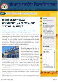#KamalMehta #JodhpurNationalUniversity The Jodhpur National University provides various courses with relevant associated councils with top class infrastructure, professional faculty, and intensive corporate interaction.