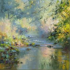 Landscape Paintings and photographs : Modern Contemporary Low Country Marsh Abstract Landscape Water Reflections by ch Landscape Artwork, Abstract Landscape, Abstract Art, Acrylic Painting For Beginners, Impressionist Landscape, Modern Art Paintings, Abstract Painters, Texture Art, T Rex
