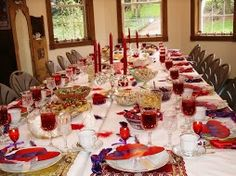 Decorations ideas for a Red Hat Party