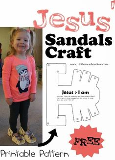Jesus Sandals Craft  (free printable) for Sunday School Lesson focusing on Jesus is greater than John the Baptist from Mark 1:7
