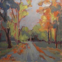 Early October Morning Autumn Landscape Painting Impressionism, painting by artist Heidi Malott