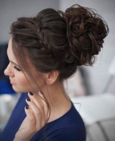 accent bun with braid messy bun hairstyles for prom