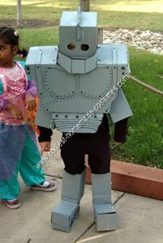 Homemade Iron Giant Costume: This year my son wanted to be Iron Giant. I only found one example of a Homemade Iron Giant Costume online, and that one was made of Styrofoam, so we had