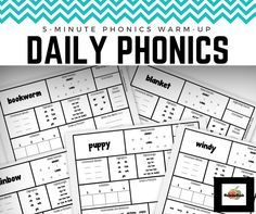 Great resource for PHONICS review! Each packet includes 20 pages of word work -- reinforcing blends, vowels, syllables, and visual recognition. (@msjordanreads)