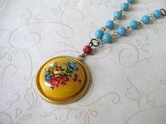 Yellow Santa Fe Garden Necklace