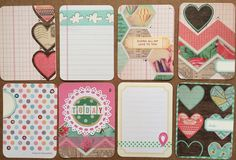 Dozen Super Cute Handmade Project Life Cards by jessicabree