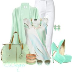 Yacht Party White & Mint