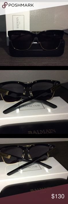 Balmain Unisex Sunglasses Black and gold unisex Balmain Sunglasses Balmain Accessories Glasses