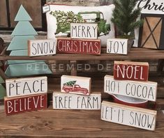 Rae Dunn Inspired Farmhouse Stencil Pack. DIY Wood Signs from 2x4 blocks. Great décor and gifts!