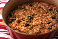 Eggplant Dirty Rice - Amateur Gourmet | This sounds like a delicious combination of ingredients! This can be a hearty vegetarian entree or a side dish accompaniment to a meal. Will try this using cauliflower rice to keep the carbs low.