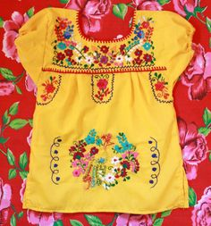 Solecitos Newborn baby ethnic Mexican dress...have a few of these for Kyani... so cute!!