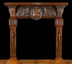 Antique oak fireplace mantel. | Antique Fireplace Mantels ...