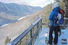 Parc national de la Jacques-Cartier: l'hiver livré sur un plateau