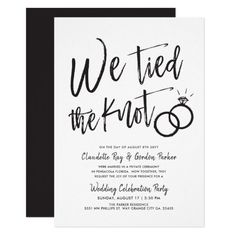 We Tied the Knot Post Wedding Party Invitation Zazzle com is part of Wedding party invites white theme - Before Wedding, Post Wedding, Wedding Vows, Diy Wedding, Wedding Events, Destination Wedding, Wedding Planning, Wedding Day, Dream Wedding