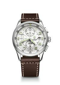Swiss Army Airboss Mechanical Chronograph Dilver white dial Brown leather  strap Mens Watch 241598 BY Swiss Army 8fb14124924