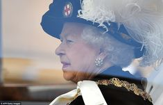 The Queen, who is sovereign of the order, arrived at the chapel by state limousine while the majority of members of the order, including the Prince of Wales and Duke of Cambridge, processed through the grounds of the castle to the event