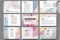 Set of 45 templates for presentation by VectorShop on Creative Market