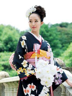 Orchid flower kimono