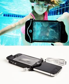 The latest must have holiday accessory – a scuba suit for your iphone!!  A 100% waterproof driSuit to take into the pool or down the water slide for some cool underwater photos :) wow I want this!