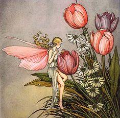 Tending the Flowers Australian Artist: Ida Rentoul Outhwaite
