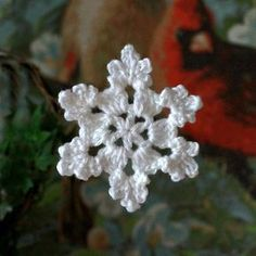 With a Grateful Prayer and a Thankful Heart: Crochet Snowflake