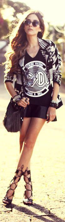 Look Du Jour: Ac/dc | by Fashion Coolture