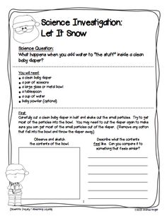 """Fun Science Experiment: """"Let It Snow"""" ... Help your kids turn the contents of a baby diaper into """"snow."""" It's a great, hands-on science discovery."""