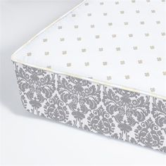 @rosenberryrooms is offering $20 OFF your purchase! Share the news and save!  Brocade Slate Perfect Fit Crib Sheet #rosenberryrooms
