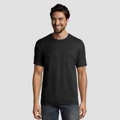 d59775d2 The 1901 collection is a nod to the longstanding comfort and quality that  Hanes is known for. This crew neck short sleeve tee ...