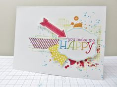 Stampin Utopia: party card with Gorgeous Grunge