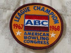 A Junkee Shoppe Junk Market Stop: ABC BOWLING PATCH League Champion 1967 1968 Season ... For Sale Click Link Here To View >>>> http://ajunkeeshoppe.blogspot.com/2016/01/abc-bowling-patch-league-champion-1967_12.html