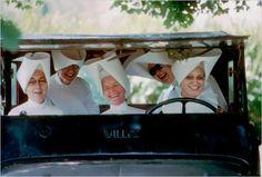 Nuns having fun.  Burt Glinn.