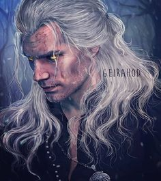 ArtStation - Geralt of Rivia - netflix series fanart, Natalie Herrera The Witcher 3, The Witcher Series, The Witcher Books, Witcher Art, Witcher Triss, Fanart, The Witcher Wallpapers, Foto Portrait, Beautiful Fantasy Art