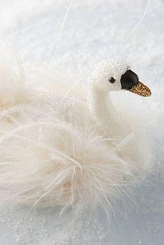 Snowy Swan Ornament