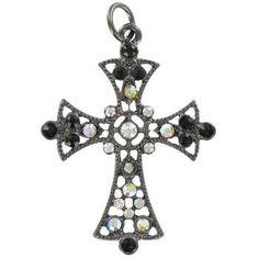 Medium Gunmetal Cross Pendant