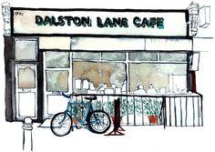 Dalston Lane Café - by Eleanor Crow