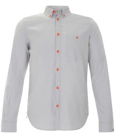 GREY FLURO BUTTON OXFORD SHIRT, MARC BY MARC JACOBS