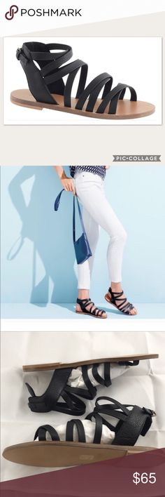 c9bfe71e83a Spotted while shopping on Poshmark  J. Crew Callista Strappy Black  Gladiator Sandals!