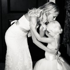 Sweetest moment between bride and her flower girl. Erin Hearts Court Photography.